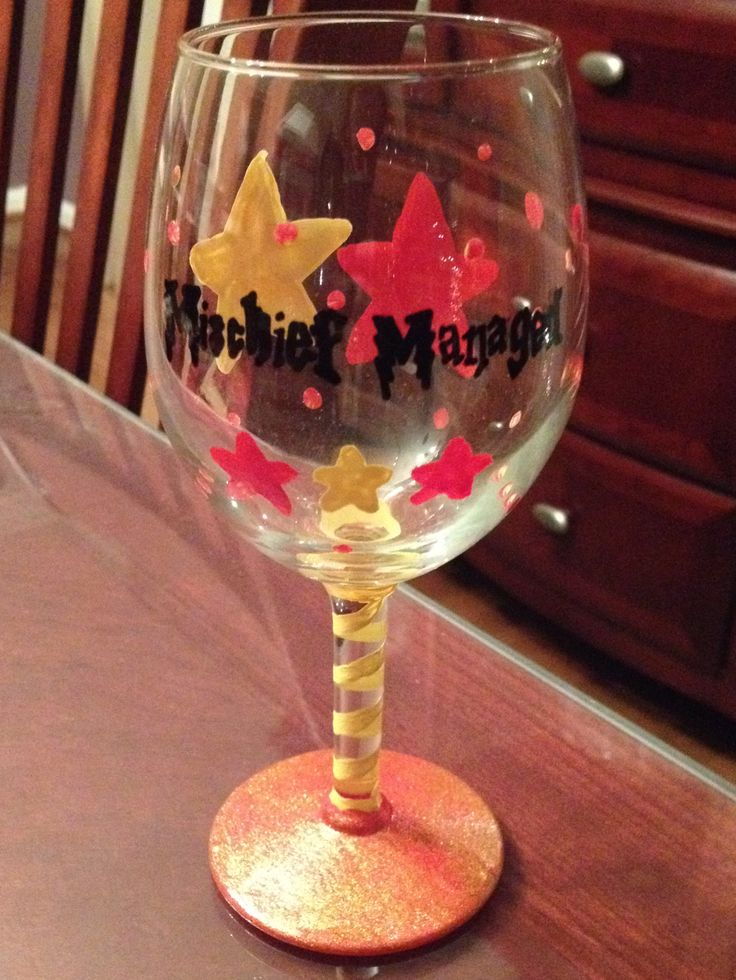 17 best images about crafty with wine on pinterest for Acrylic paint on wine glasses