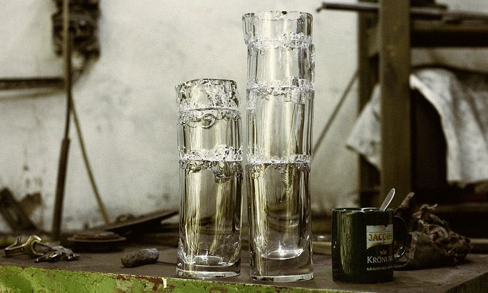 """Born Broken"" - new collection of glass vases by Jakub Berdych Broken from studio Qubus in Prague."