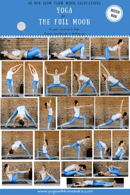 Have you ever tried Moon Salutations? They are quite different from classical sun salutations that can put a lot of strain on the wrists ...