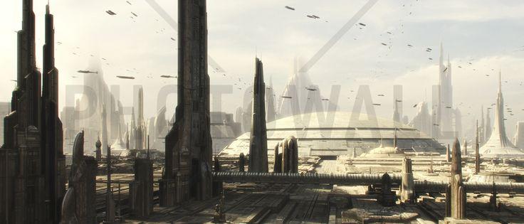 Star Wars - Coruscant Buildings 1 - Fototapeter & Tapeter - Photowall