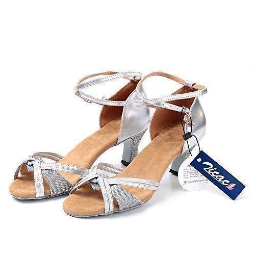 Oferta: 25€. Comprar Ofertas de Zicac-2015 Nuevo de las Mujeres de Moda Salsa Tango Zapatos de Baile Latino Sandalias (38T, plateado) barato. ¡Mira las ofertas!