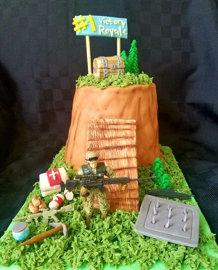 Fort Nite Battle Royale cake idea / teen boy birthday cake