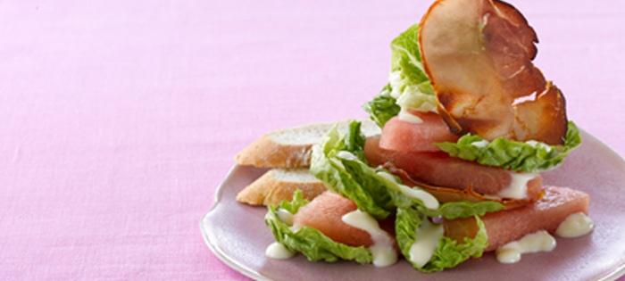 Melonen-Schichtsalat mit Miracel Whip Dressing