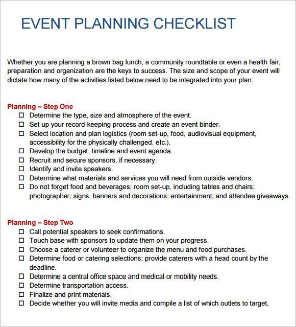 Image result for event checklist