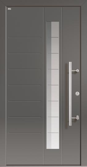 Tür und Haustür - die Außenseite der Holz-Aluminium-Haustür HAHT1106 von UNILUX bei WINTRO inklusive hochwertiger Montage erhältlich