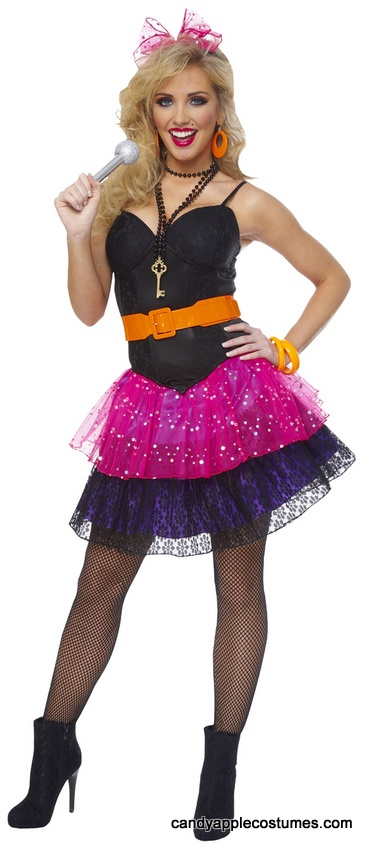 Adult 80's Pop Star Costume - Madonna Costumes