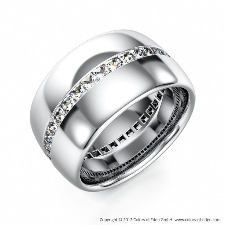 Perfect Platinum Diamond Wedding Ring Eternity for Men mens wedding ring