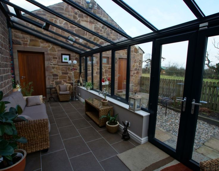 Internal croft conservatory Preston dark UPVC