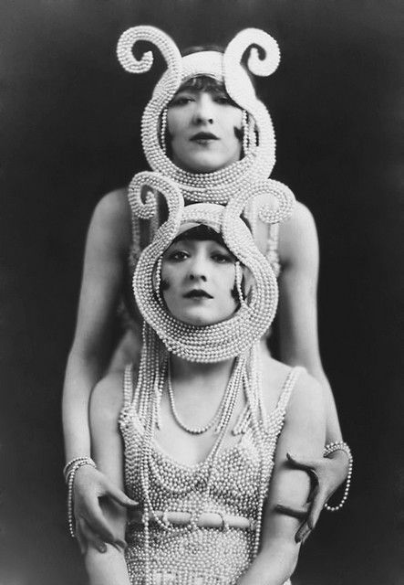 1920's: Alfred Cheney Johnston, Dolly Sisters' pearly totem. by carbonated. @designerwallace