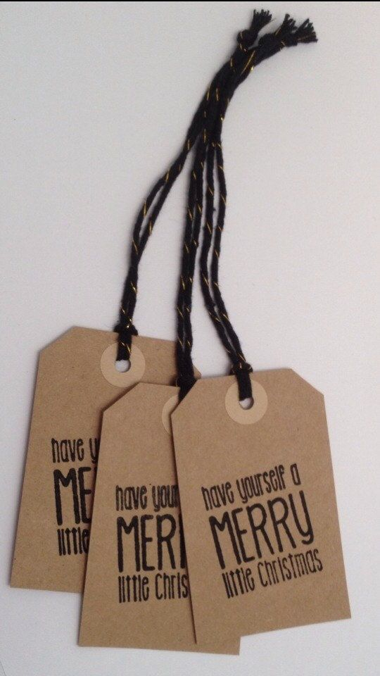 Handmade Christmas holiday label gift tags in by PipandtheSea