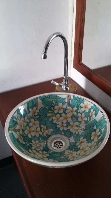 Wash basin, sink, bathroom basin, en suite, shower room, hand painted, FREE POST