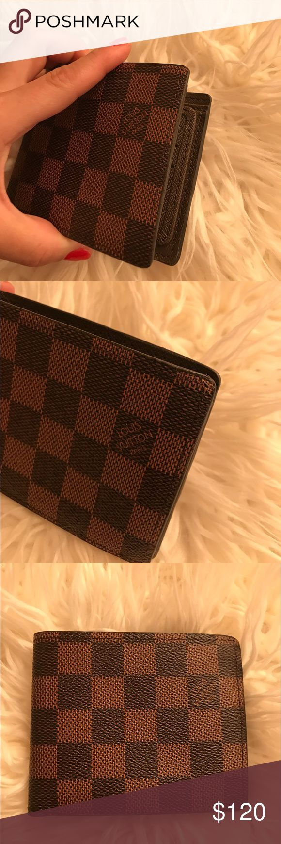 Louis Vuitton Saffiano leather bi-fold wallet A lot of space to hold all your cards and cash. Please consider the price, before asking questions. Louis Vuitton Bags Wallets