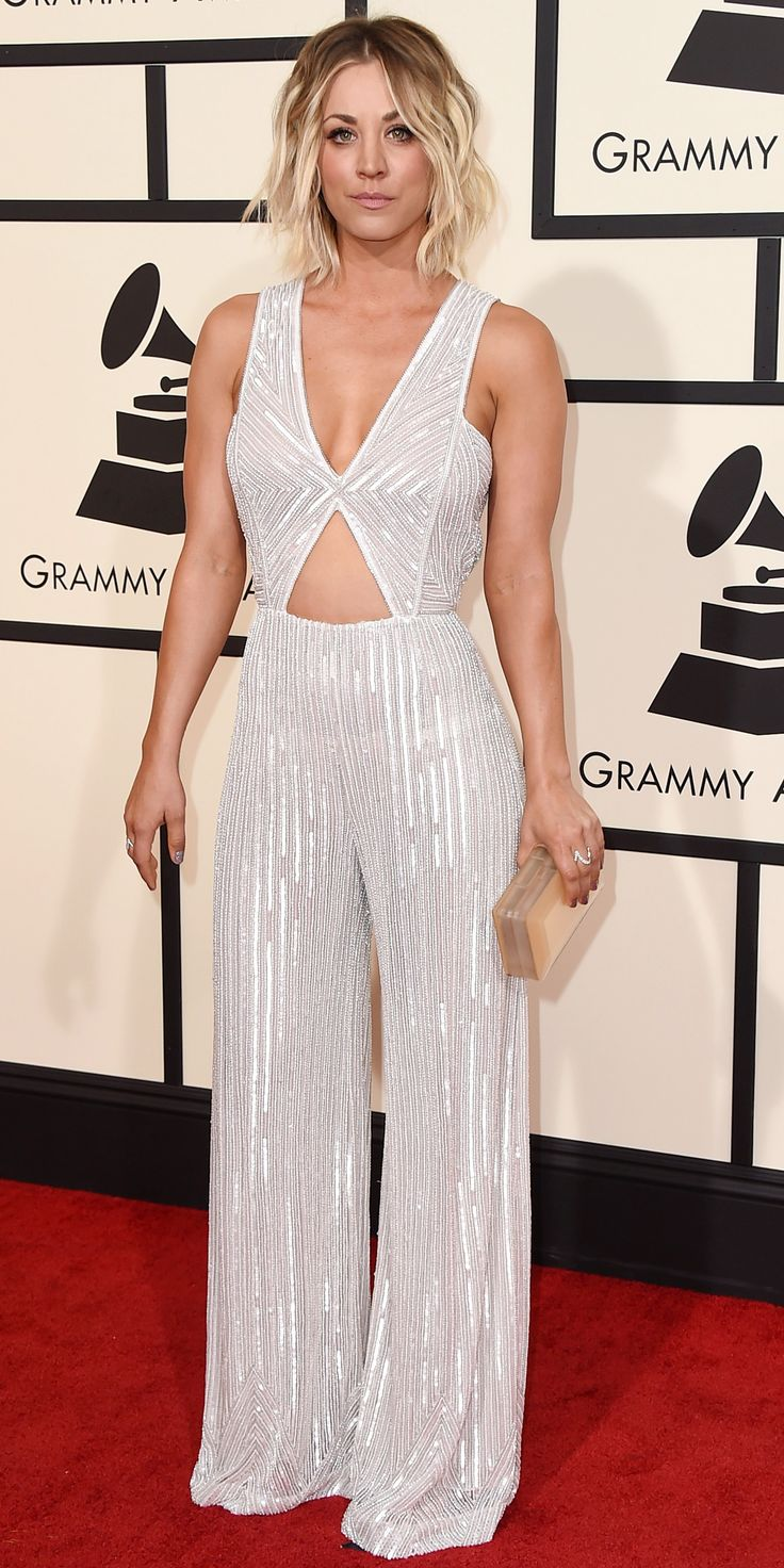 See Your Favorite Stars On The 2016 Grammys Red Carpet - Kaley Cuoco  - from InStyle.com