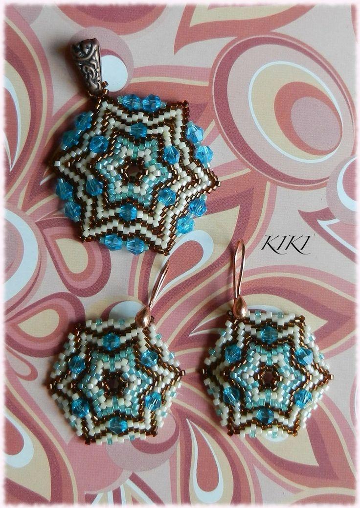 KIKI beads: Peyote star set