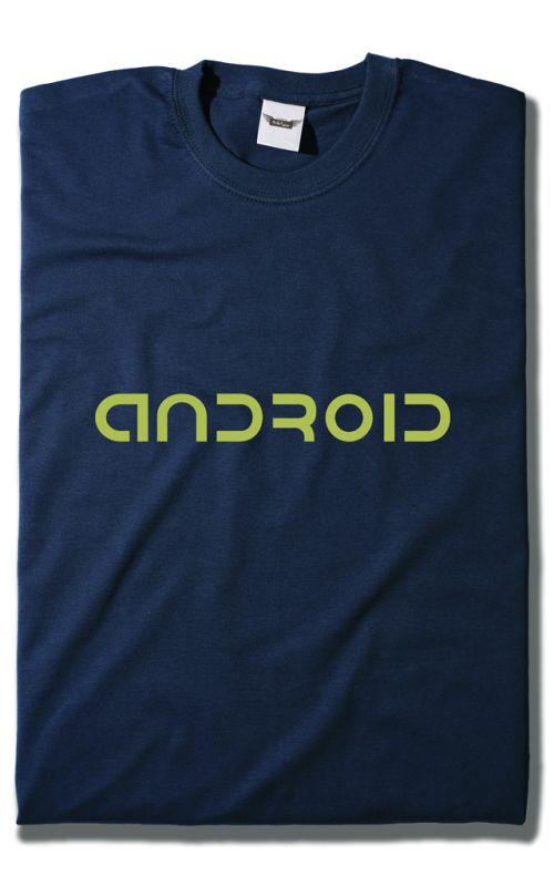Camiseta Android solo texto