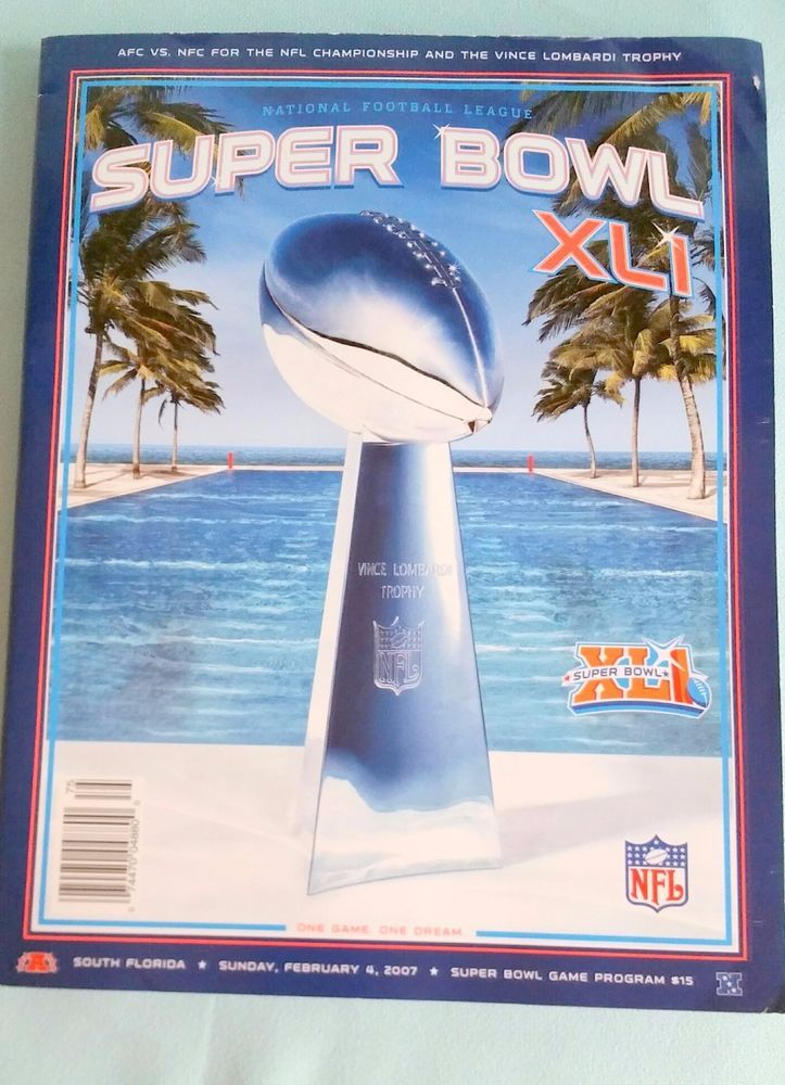 Chicago Bears Indy Colts Super Bowl XLI 2007 Game Program 290 pages softcover  #ChicagoBears