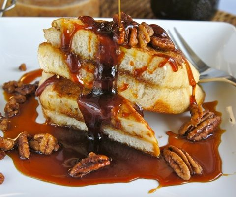 ... bacon jam drizzled french toast with pecans look for your day after