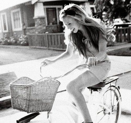Sun Drenched Bike Rides: Inspiration, Life, Girl, Summer, Smile, Beach Cruiser, Bicycle