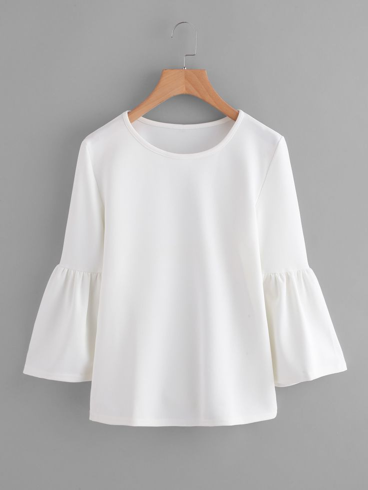 Top avec manche trompe -French SheIn(Sheinside)