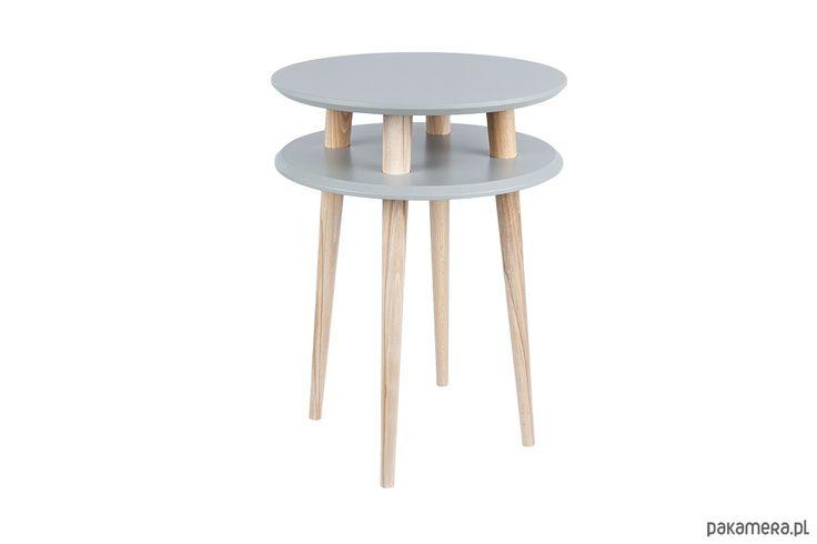 meble - stoły i stoliki-Stolik HIGH UFO ciemnoszary