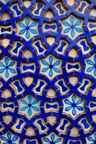 mehreenkasana:  A tile from the Mausoleum of Shah Rukn-e-Alam in Multan, Pakistan. Photo by Martin Gray for National Geographic.