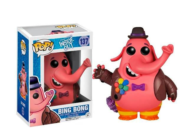 Cabezón Bing Bong, 10cm. Inside Out Funko Pop Cabezón de 10cm perteneciente a la película de animación Inside Out, con el personaje Bing Bong.