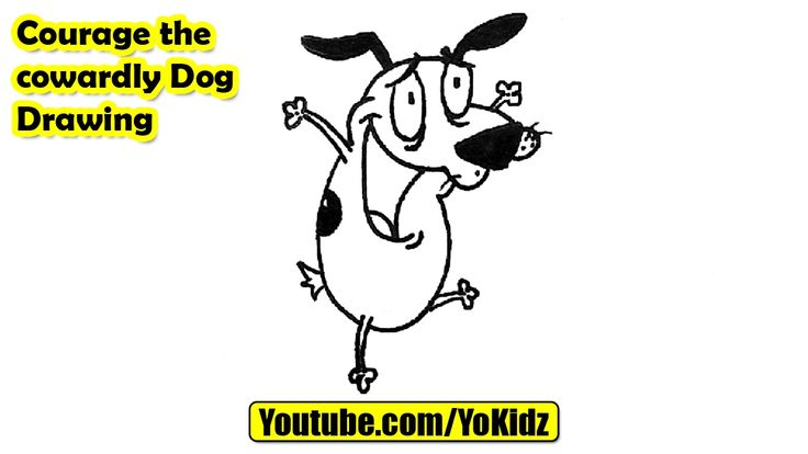 How to draw courage the cowardly Dog  Courage the cowardly Dog Drawing from YoKidz  #YoKidz #Drawing #PencilDrawing #Generaldrawing #Like4like #Likeforlike #Share4share #Shareforshare #Draw #DrawcowardlyDog #Blackandwhite #cowardlyDog