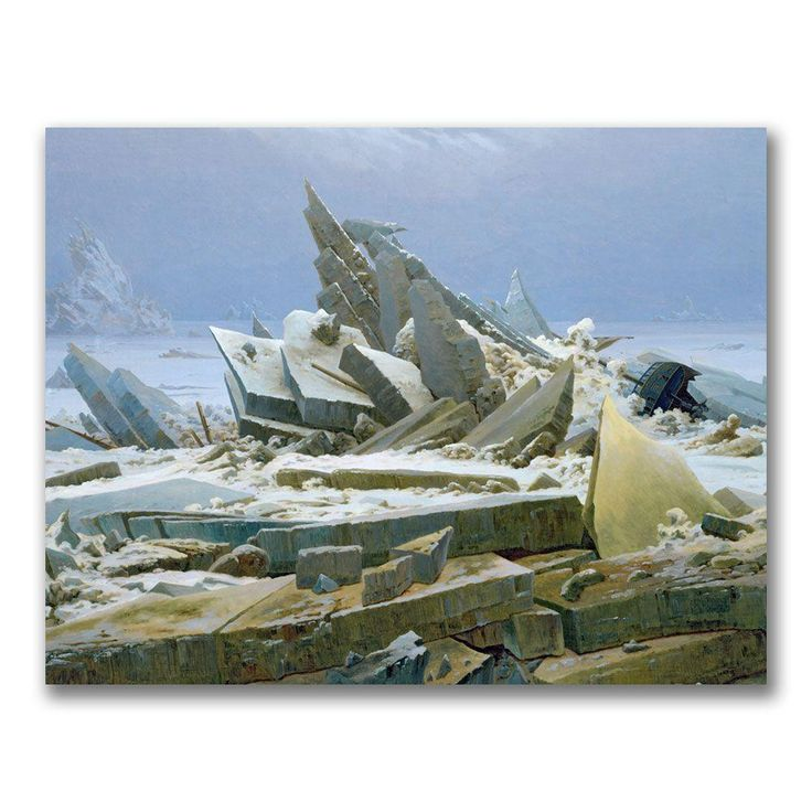 Trademark Fine Art 24 in. x 32 in. The Polar Sea Canvas Art BL0651-C2432GG