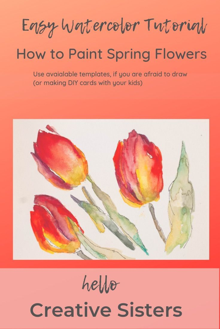 Watercolor Tutorial Spring Flowers Easy Watercolor Lesson