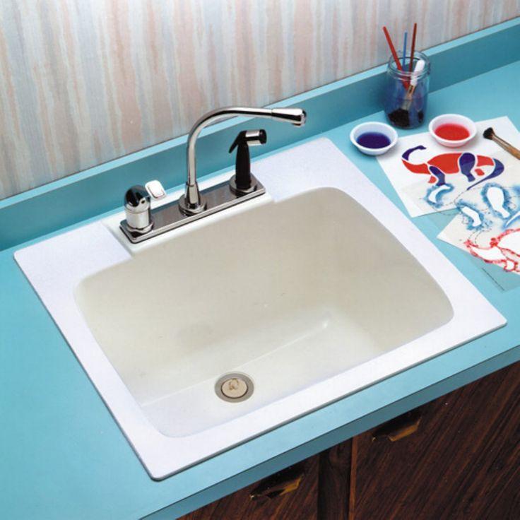 Mustee Durastone 10 Single Basin Drop In Utility Sink - TBL930