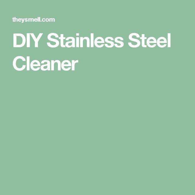 DIY Stainless Steel Cleaner