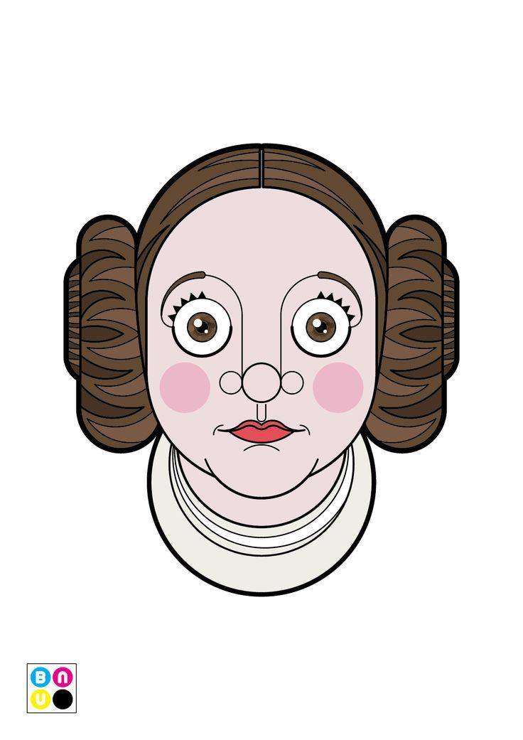 Carrie Fisher è la Principessa Leila - Ritratto Vettoriale Illustrazione