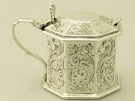 Antique Victorian sterling silver | An exceptional, fine and impressive antique Victorian English sterling silver mustard pot.