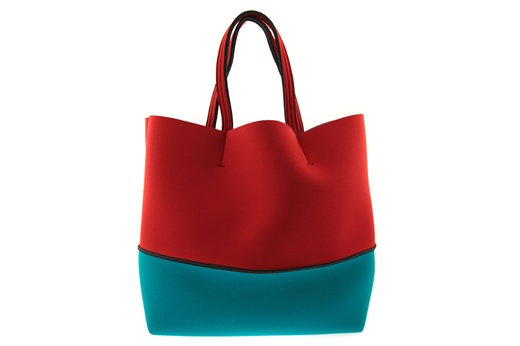 Shopping bag Leghilà in neoprene bicolore, lavabile in lavatrice con sacchetto apposito. #bags #leghila