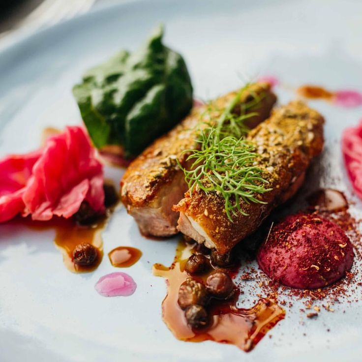 Dry aged Wagin Duck, aromatic spices, fermented red cabbage, and muntries at @wildflowerrestaurant.