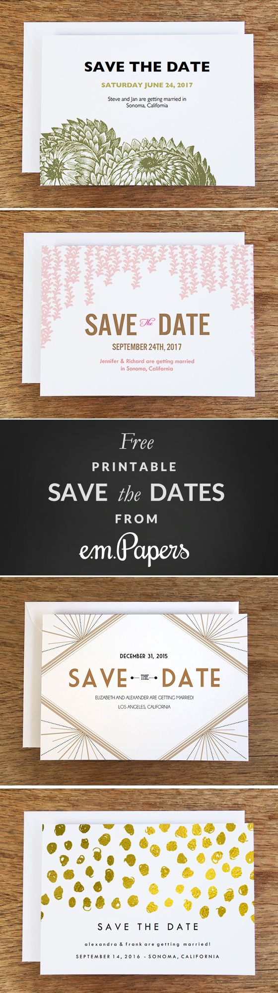 Best 25 save the date templates ideas on pinterest save the free save the date templates pronofoot35fo Images