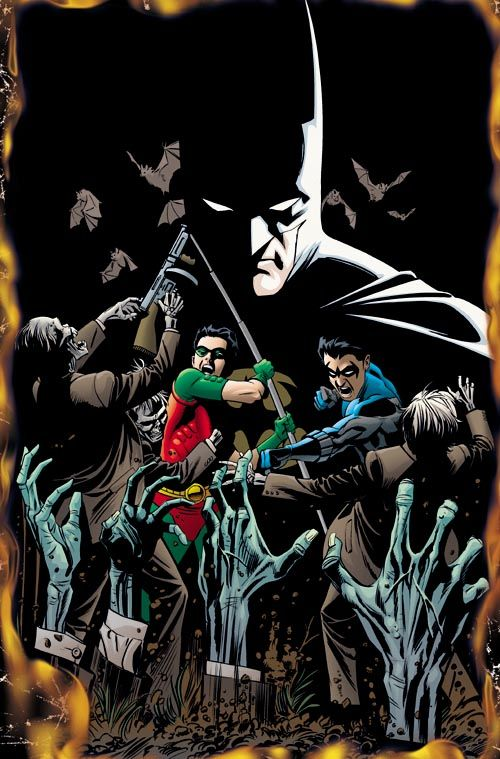Zombie Batman Comic Batman, Robin & Ni...