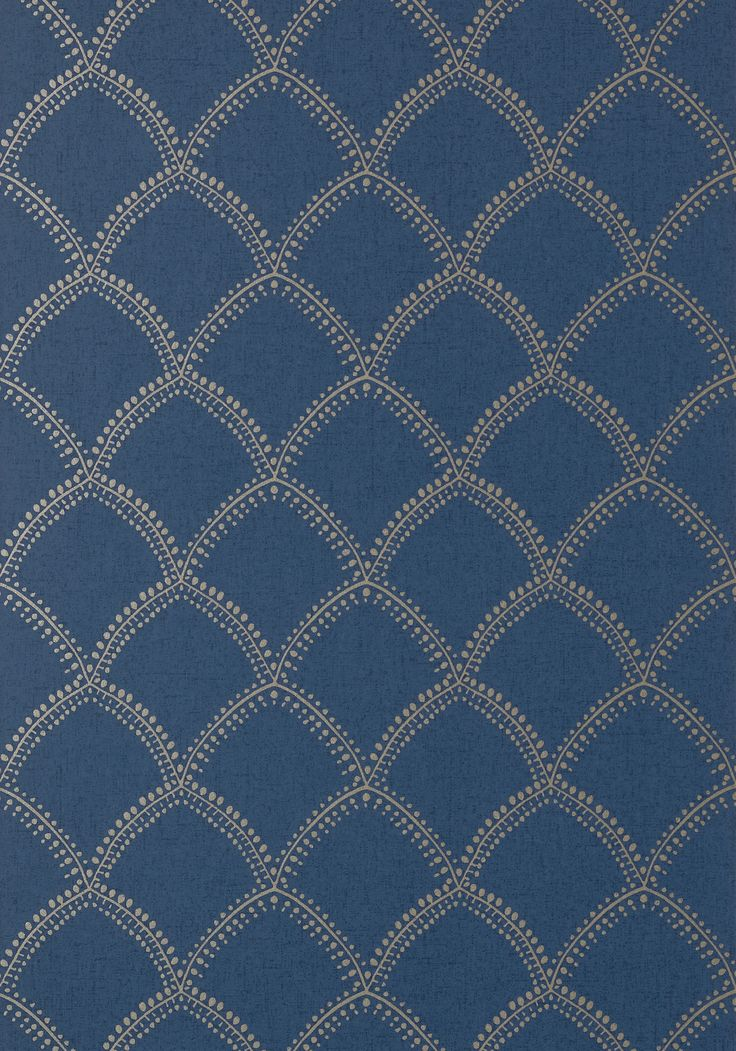 BURMESE, Metallic on Navy, AT7911, Collection Watermark from Anna French