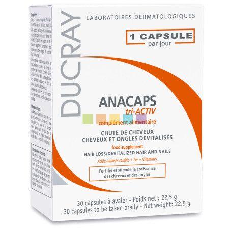 Ducray Anacaps Tri-Activ: Voedingssupplement voor het haar en de nagels