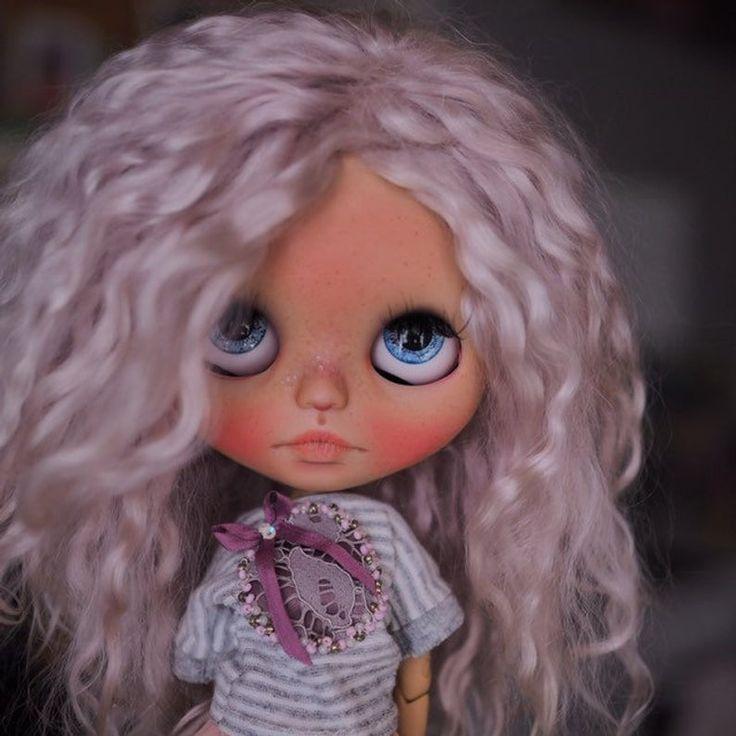 Ariana • ooak custom blythe doll with mohair weft