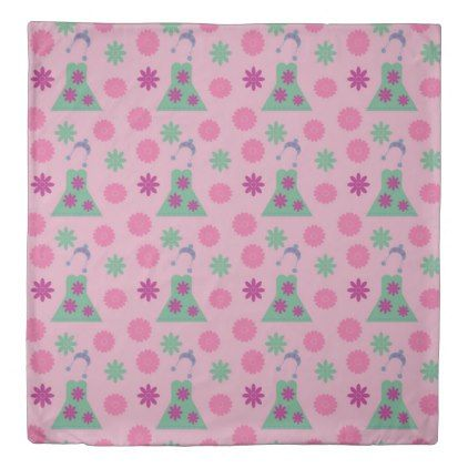 green dress pink duvet cover - home gifts ideas decor special unique custom individual customized individualized