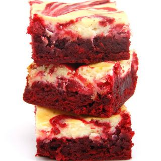 Red Velvet Cheesecake Brownies - These are so delicious!  (I made them without the food coloring).
