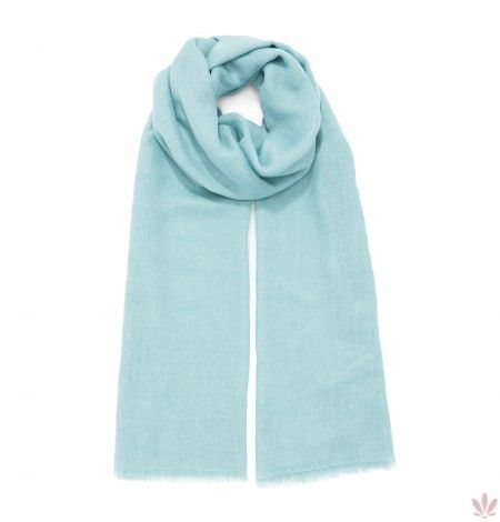 Super Soft Gren Acqua Scarf Wool, Cashmere, Rayon & Modal Blend. Luxury high quality  made in Italy by Fulards free shipping.