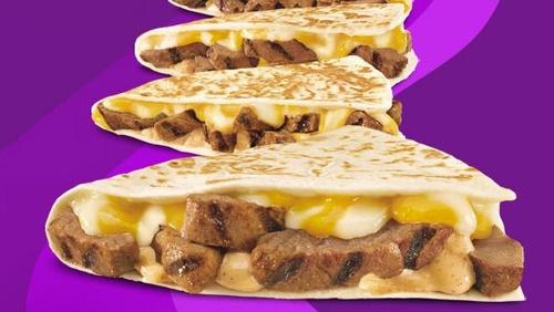 steak quesadilla taco bell omg drool