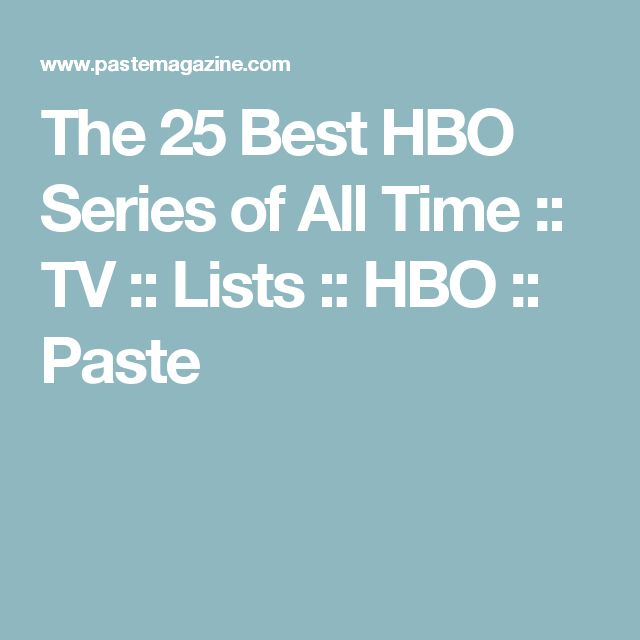 The 25 Best HBO Series of All Time :: TV :: Lists :: HBO :: Paste