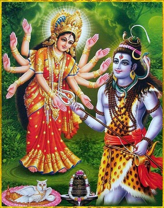 When Goddess Parvati became Goddess Durga to battle with mahishasura, Lord Shiva gifted his trisul for her.