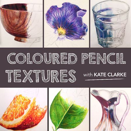 Join Kate Clarke in her Colour Pencil Textures course as she shows you how to render a wide variety of shapes and textures from the everyday with stunning realism.