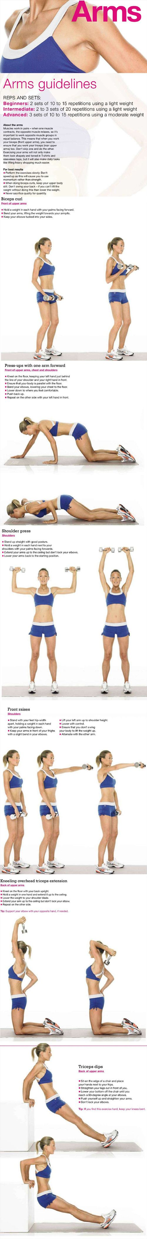 Arm Exercises for Women & Men. This onebis a favorite for me because it works all around not just one area.