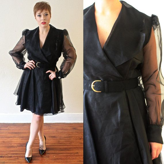 Positively Ellyn Vintage Dress Organza Dress by SaintEssexVintage