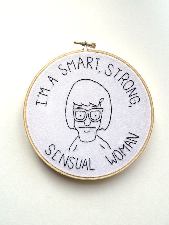 For getting in touch with your feminine side. | 19 Motivational Embroideries You'll Actually Want To Own